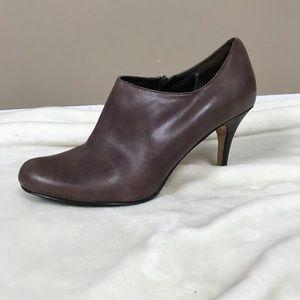 Cole Haan brown leather ankle heels booties